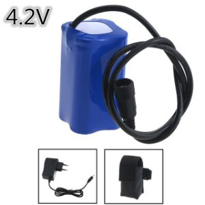 Pack de Baterias Li Ion Recarregavel 4x18650 15800mah 4.2v com fonte