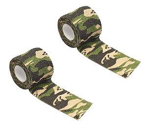 uma Fita Camuflagem Camo Tape com 5 Metros Multicam Sniper Airsoft