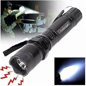 Lanterna Tática de Choque Taser Led Recarregável
