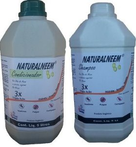 KIT Shampoo + Condicionador Naturalneem Anti Pulgas e Carrapatos 5 L
