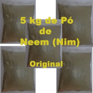 05 Kg Pó De Neem Nim Azadiractha Extremamente Puro Original