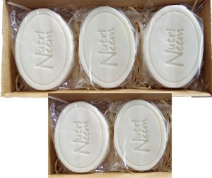 Sabonete com óleo de Neem Nim 100 Gr uso animal Kit com 05 Unidades