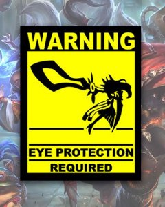 Placa Decorativa - Eye Protection Required - League Of Legends LOL