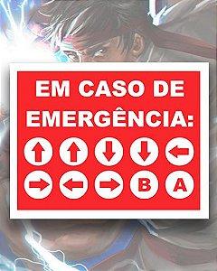 Placa Decorativa - Código de Emergência