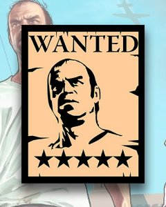 Placa Decorativa - Wanted Trevor -  GTA V