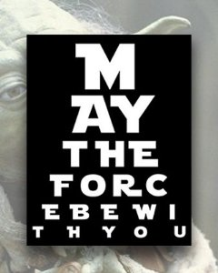 Placa Decorativa - May The Force Be With You - Star Wars