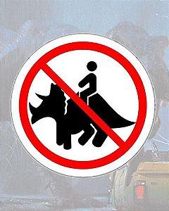 Placa Decorativa - Proibido Triceratops