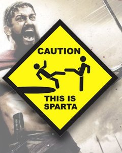 Placa Decorativa - This is Sparta - 300