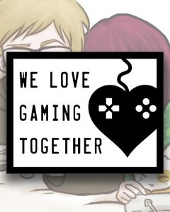 Placa Decorativa - We Love Gaming Together