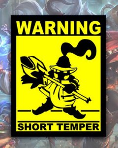 Placa Decorativa - Short Temper - League of Legends
