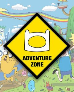Placa Decorativa - Adventure Zone - Hora de Aventura