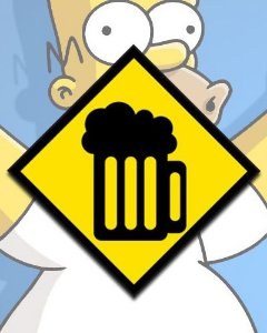 Placa Decorativa - Caneca De Chopp Simpsons