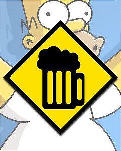 Placa Decorativa - Caneca De Chopp Simpsons