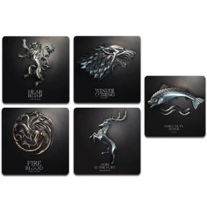 Ímãs Decorativos Brasões Game of Thrones - Pack 10 unid