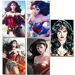 Ímãs Decorativos Mulher-Maravilha - Série Quadrinhos