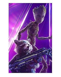 Ímã Decorativo Groot e Rocket - Avengers Infinity War - IMAVI09