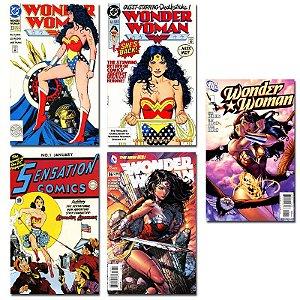 Ímãs Decorativos Capas de Quadrinhos - Wonder Woman - Pack 10 unid
