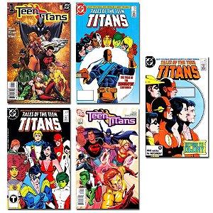 Ímãs Decorativos Capas de Quadrinhos - Teen Titans - Pack 10 unid