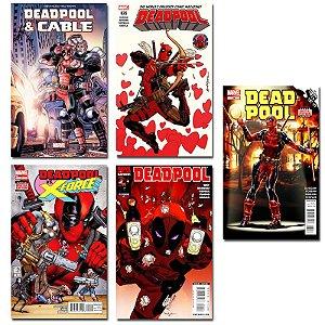 Ímãs Decorativos Capas de Quadrinhos - Deadpool - Pack 10 unid