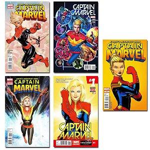 Ímãs Decorativos Capas de Quadrinhos - Capitã Marvel - Pack 10 unid