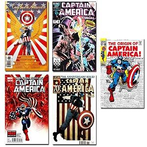 Ímãs Decorativos Capas de Quadrinhos - Capitão América - Pack 10 unid
