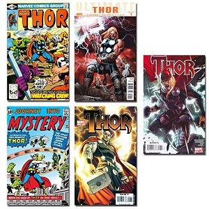 Ímãs Decorativos Capas de Quadrinhos - Thor - Pack 10 unid