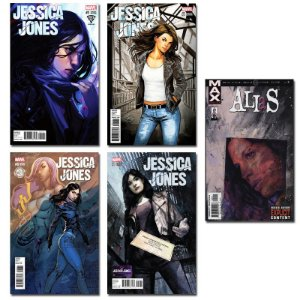 Ímãs Decorativos Capas de Quadrinhos - Jessica Jones - Pack 10 unid