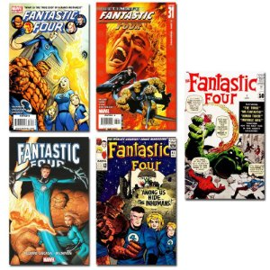 Ímãs Decorativos Capas de Quadrinhos Quarteto Fantástico Pack 10 unid