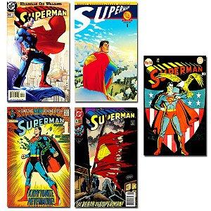 Ímãs Decorativos Capas de Quadrinhos - Superman - Pack 10 unid