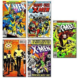Ímãs Decorativos Capas de Quadrinhos - X-Men - Pack 10 unid