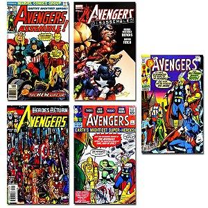 Ímãs Decorativos Capas de Quadrinhos - Vingadores - Pack 10 unid