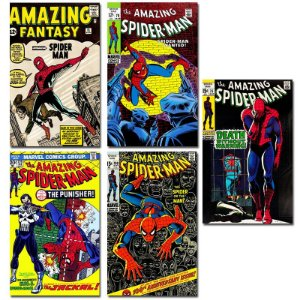 Ímãs Decorativos Capas de Quadrinhos - Spider-Man - Pack 10 unid