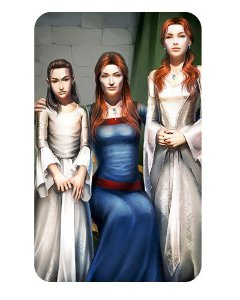 Ímã Decorativo Arya, Sansa e Catelyn - Game of Thrones - IGOT17