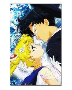 Ímã Decorativo Sailor Moon e Tuxedo Mask - ISM28