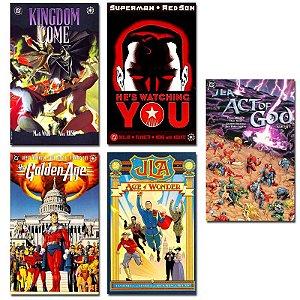Ímãs Decorativos Capas de Quadrinhos - DC Elseworlds - Pack 10 unid