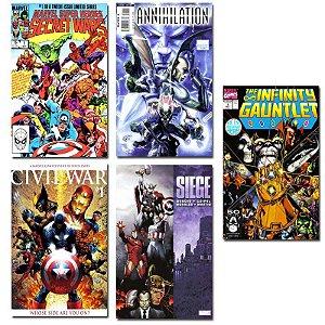 Ímãs Decorativos Capas de Quadrinhos - Sagas Marvel - Pack 10 unid