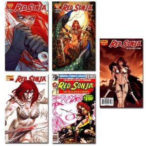 Ímãs Decorativos Capas de Quadrinhos - Red Sonja - Pack 10 unid