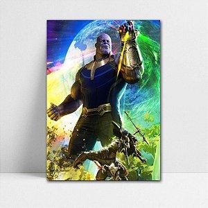 Poster A4 Avengers Infinity War - Thanos