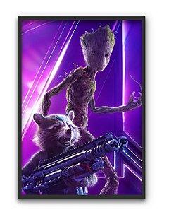 Poster A4 Avengers Infinity War - Groot e Rocket
