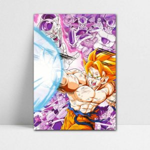 Poster A4 Dragon Ball Z - Goku SSJ Born