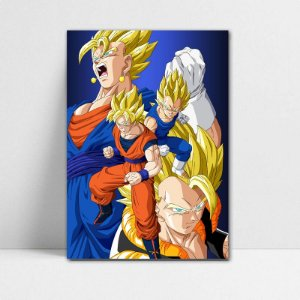 Poster A4 Dragon Ball Z - Goku and Vegeta Fusion