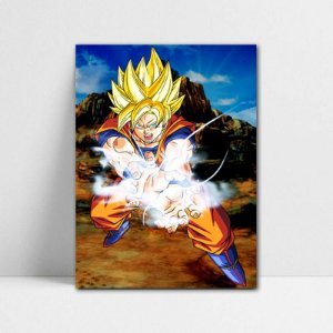 Poster A4 Dragon Ball Z - Goku Super Saiyajin 2