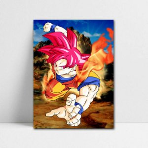 Poster A4 Dragon Ball Super - Goku God