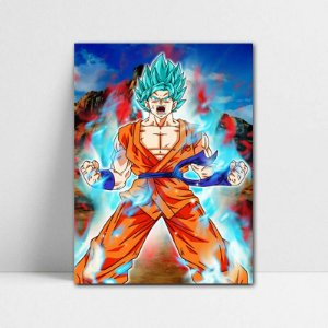 Poster A4 Dragon Ball Super - Goku SSJ Blue
