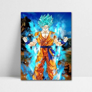 Poster A4 Dragon Ball Super - Goku Blue Saiyan
