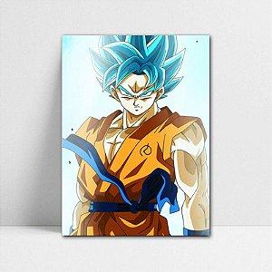 Poster A4 Dragon Ball Super - Goku Blue Aura