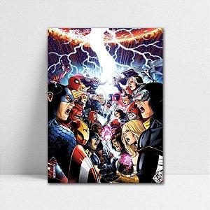 Poster A4 Marvel - The Avengers vs X-men