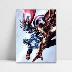 Poster A4 Marvel - Trinity Heroic Age Avengers