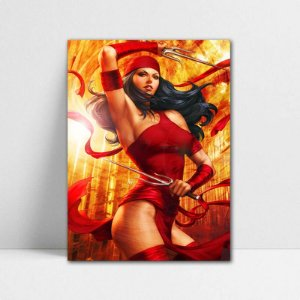 Poster A4 Marvel - Beauty Elektra
