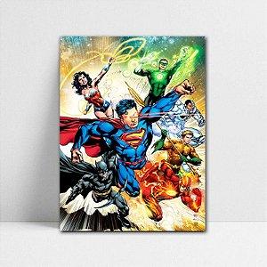 Poster A4 DC - Liga da Justiça Novos 52